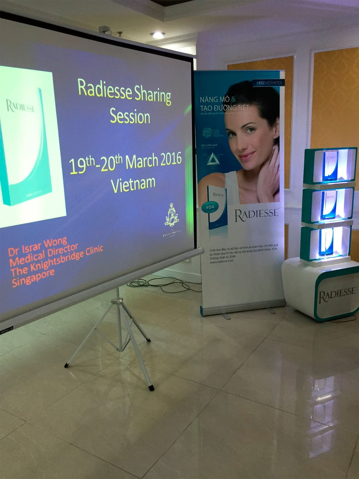 Radiesse light-box display