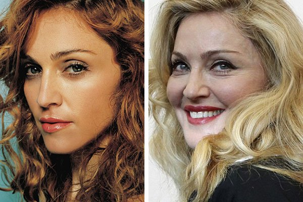 madonna young vs old