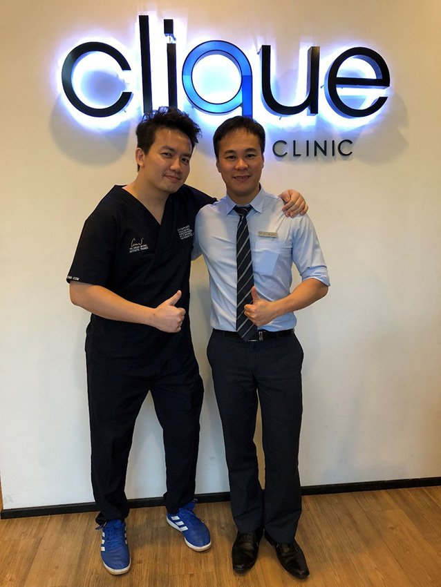 Clique Clinic - Dr Isaac Wong with Lim Ting Song