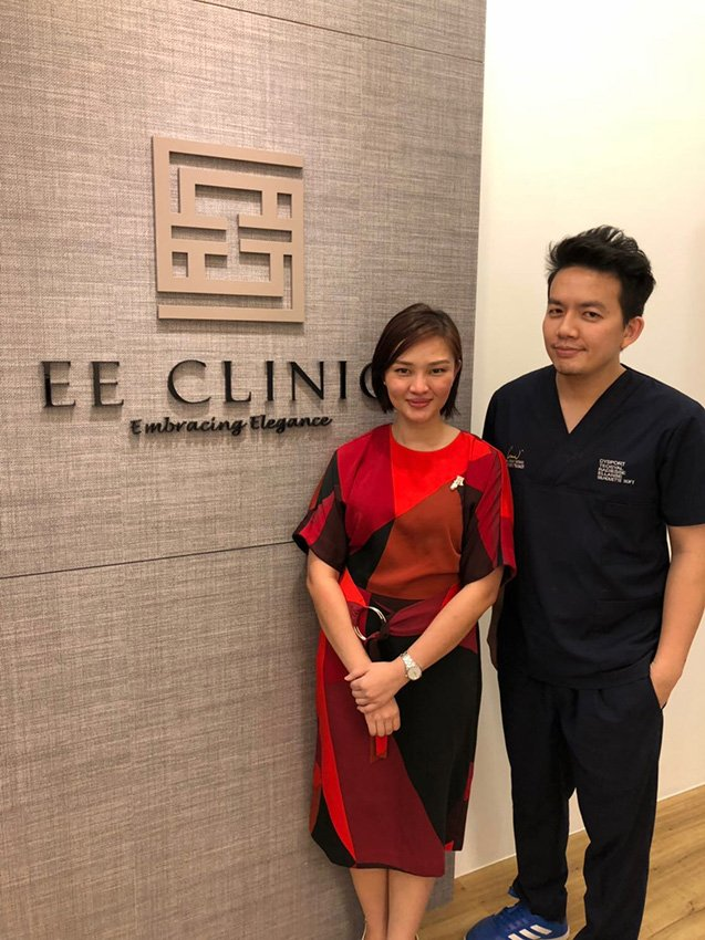 Dr Isaac Wong With Dr Ee Care Ling at EE Clinic
