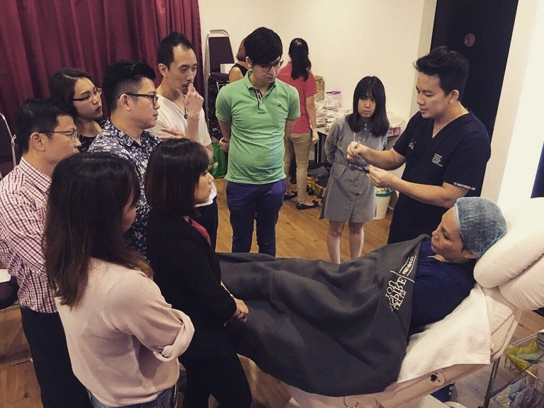 Me teaching them on how to perform Ellanse and Silhouette Soft treatments.