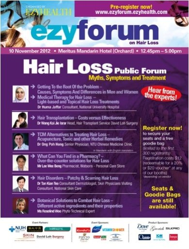 Dr Isaac Wong's first hair loss public forum in 2012