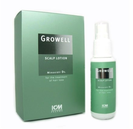 Product of Growell scalp lotion